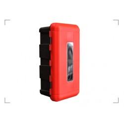 Pojemnik na gasnice 9kg czerwono/czarny