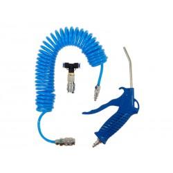 Zestaw do przedmuchiwania, niebieski 4x6 mm, 10 atm