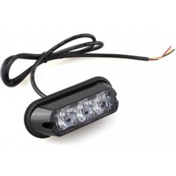 LAMPA BŁYSKOWA 3 LED*3W R65 R10 POMARAŃCZOWA