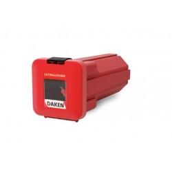 Pojemnik na gaśnice 6kg czerwony z okienkiem SLIDEN